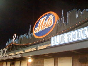 Shea's scoreboard header atop Shake Shack and Blue Smoke